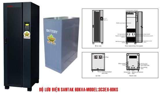Bộ lưu điện UPS Santak 3C3-EX60KS - dienmaytoanthang.com
