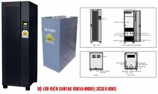 Bộ lưu điện UPS Santak 3C3-EX80KS - Diemaytoanthang.com