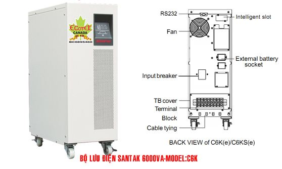 Bộ lưu điện UPS Santak C6K - dienmaytoanthang.com