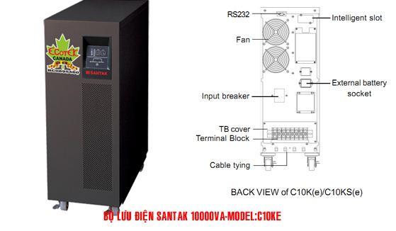 Bộ lưu điện UPS Santak Online C10KE - Dienmaytoanthang.com