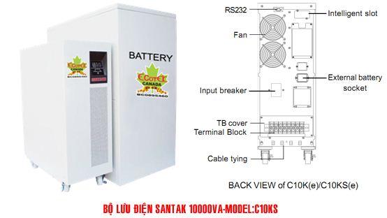 Bộ lưu điện UPS Santak Online C10KS - Dienmaytoanthang.com