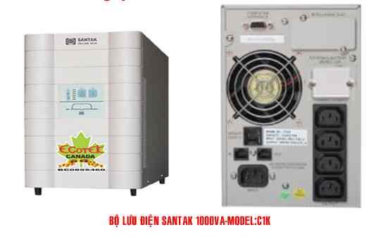 Bộ lưu điện UPS Santak Online C1K (1KVA) có thể Tự động chuyển sang chế độ điện lưới trực tiếp khi quá tải ,Công suất : 1 KVA / 0.7 KW , Hiệu suất : 88 3