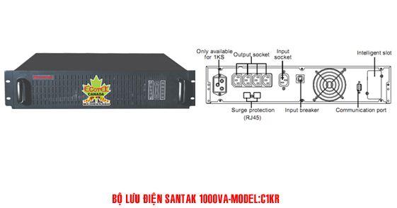 Bộ lưu điện UPS Santak Online C1KR - Dienmaytoanthang.com