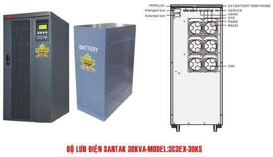 Bộ lưu điện UPS Santak 3C3-EX30KS - Dienmaytoanthang.com