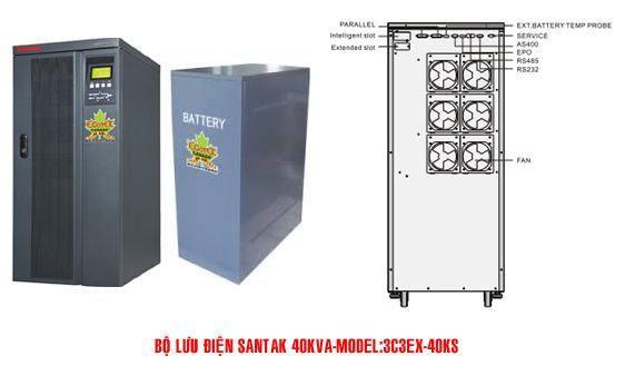 Bộ lưu điện UPS SANTAK 3C3-EX 40KS - dienmaytoanthang.com